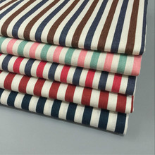 DIY Sewing Linen Cotton Fabric Stripe Printed Telas Canvas Material Tablecloth Pillowcase Crafts