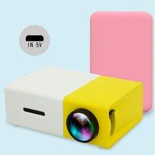 YG300 светодиодный проектор 600 люмен 3,5 мм аудио 320x240 пикселей YG-300 HDMI USB Мини проектор домашний медиаплеер