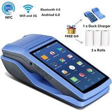 PDA Printer POS Bluetooth Android-6.0 Camera Receipt Scan Barcode NFC 58mm 3G by