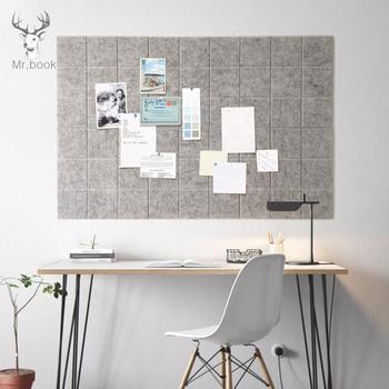 Войлочная доска для заметок в скандинавском стиле, доска для записей, домашний декор, Офисная доска для планирования расписания, фото-диспл...