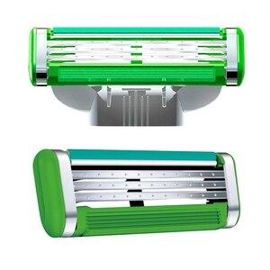 Image 3 - Gillette mach 3 potência sensível lâmina de barbear lâminas para homens barbear 4 lâminas clipper cabelo segurança lâminas substituição cabeças