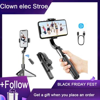 Gimbal Selfie stick uniwersalny ręczny smartfon stabilizatory bezprzewodowy kijek do Selfie Bluetooth stabilizatora telefonu pojedynczy uchwyt tanie i dobre opinie ACEHE CN (pochodzenie) 68 5 x 39 5 x 190~860 mm 370g 860mm White Black Youtobe Tiktok video call Anti-Shake Wireless Bluetooth Remote