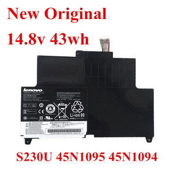 New Original Laptop replacement Li-ion Battery for Lenovo ThinkPad 45N1095 45N1094 S230U 14.8v 43wh new battery for lenovo thinkpad x230t tablet 42t4877 42t4878 0a36285 0a36286 45n1078 45n1079