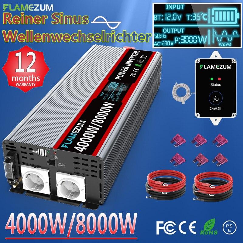 Инвертор немодулированного синусоидального сигнала 2000 Вт 3000 Вт 4000 Вт 5000 Вт 8000 Вт 12 В 24 В 220 В трансформатор напряжения постоянного тока 12 В в ...