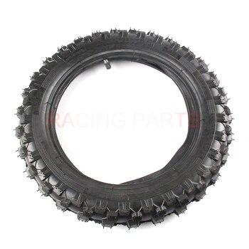 Neumático trasero 10 pulgas negro rueda de acero 2,50-10 neumático para moto de cross crf50 motocross todoterreno
