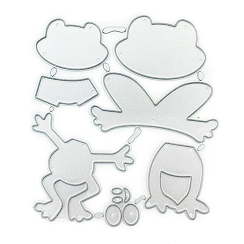 Happy Frog DIY Cutting Dies Stencil Scrapbooking Embossing Paper Card Decor 95AA