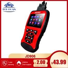 Multifuncional nova ferramenta de varredura obd/eobd jd906 leitor código do carro jdiag ferramenta diagnóstico automático jd906s bateria tester