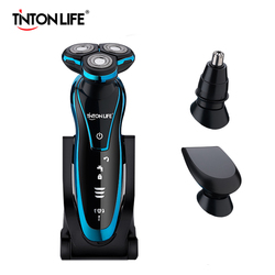 TINTON LIFE Men Washable Rechargeable Electric Shaver Electric Shaving Beard Machine Razor Rechargeable