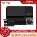 70mai A800 A800S 4K видеорегистратор Ultra HD UHD 2160P Разрешение + 70mai задняя камера RC06 (дополнительно карта micro SD U3)