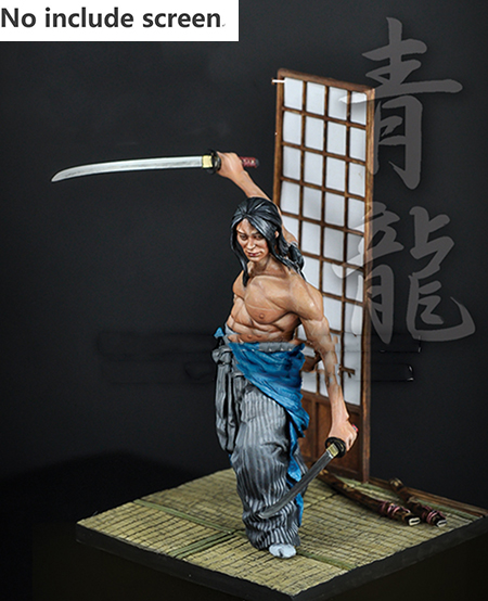 1/24 75MM  Ancient Man Sword Of The Wind 75MM (NOT HAVE  Window )Resin Figure Model Kits Miniature Gk Unassembly Unpainted