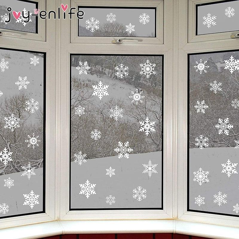 1 rinkinys baltos snaigės lipdukų dekoravimo stiklo lango vaikų - Šventės ir vakarėliai - Nuotrauka 6