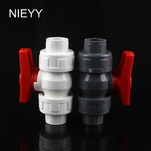 20mm PVC Ball Valve Shut Off Valve Water Valve Tool Shut Off Valve Caps Gate Valve Garden Water Connectors For Garden Irrigation 1 5 side check valve t shaped gate valve slide valve shut off valve for spa piping