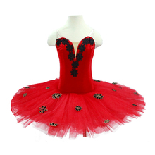 Adult Ballet Tutu Costumes Performance children Red Professional pancake Classical For girls