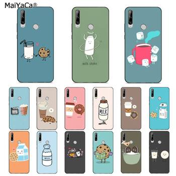 MaiYaCa Cute Cartoon Milk Biscuits Coffee Popcorn Phone Case for huawei Y 7S 7 PRO 9 6 Y5 PRIME 2018 Y7 9 5 6 PRO 2019 image
