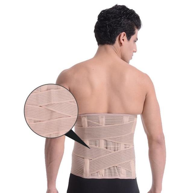 Orthopedic Posture Corrector Brace Elastic Adjustable Lower Back Support Waist Trimmer Belt Lumbar Support Belt for Men Women 5