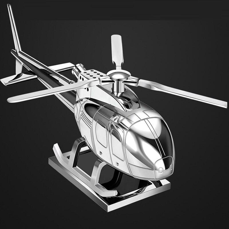 Tefanball fournitures de voiture aromathérapie hélicoptère avion décoration cadeau solaire voiture parfum parfum voiture avion ornement - 5