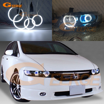 For HONDA ODYSSEY RB1 RB2 2003-2008 XENON HEADLIGHT Excellent Ultra bright illumination CCFL Angel Eyes kit halo rings элемент салона capqx 05 06 rb1