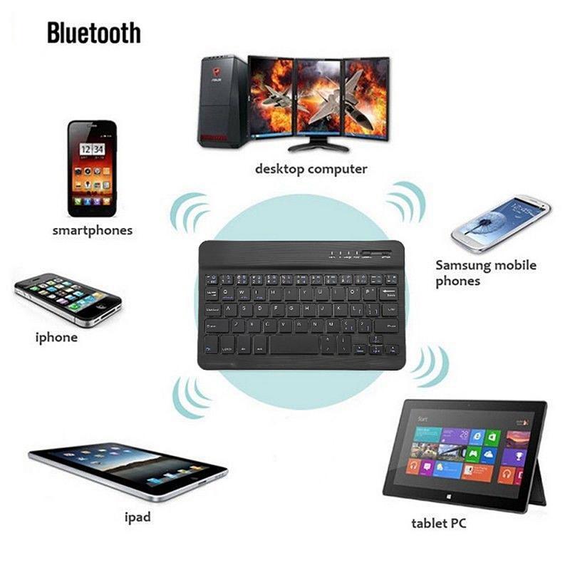 Алюминиевая Беспроводная Bluetooth мини клавиатура подходит для IOS Android Windows PC Tablet PC AQ Home Business Office Клавиатуры      АлиЭкспресс