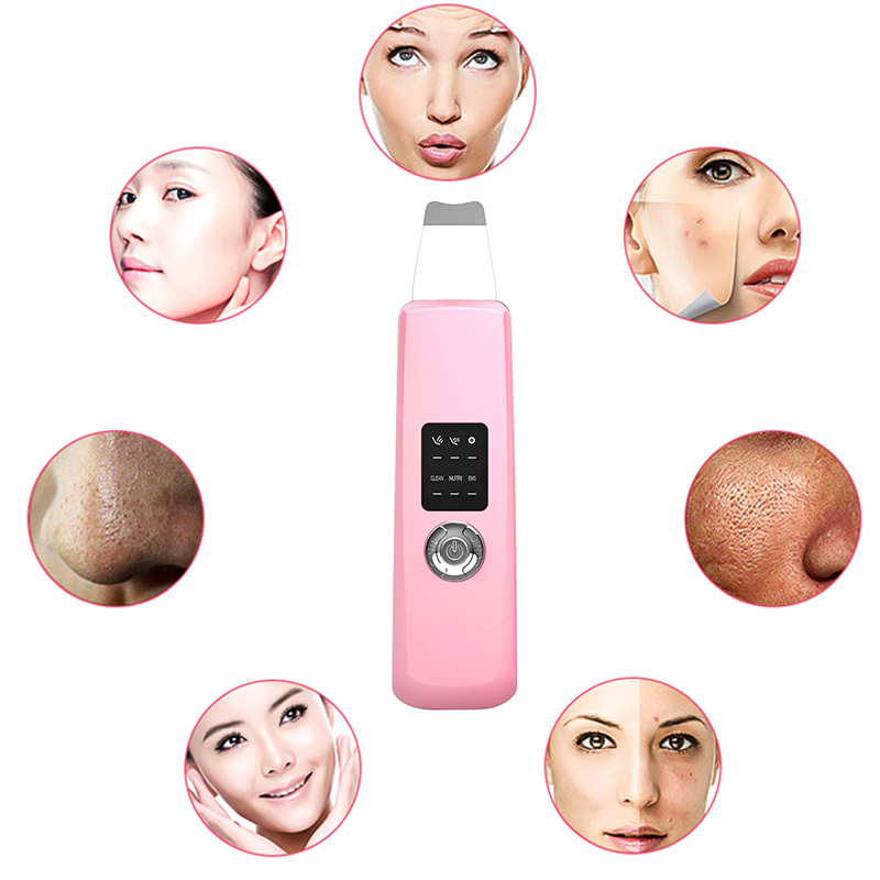 Ultrasonic Face Skin Scrubber Deep Cleaning Facial Peeling Skin Cleaner Acne Removal Blackhead Machine Beauty Face Skin Gifts