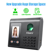 Aibecy Intelligent Attendance Machine Face Fingerprint Password Recognition Mix Biometric Time Clock for Employees with Voice