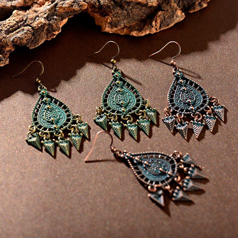 Women Boho Ethnic Tassel Geometric Drop Dangle Vintage Earrings Jewelry
