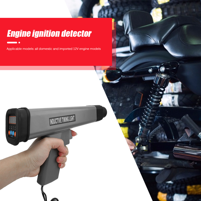 12V Professional Practical Inductive Timing Light Multi functional Durable Car Motor Engine Ignition Timing Strobe