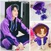 Wang YiBo Idol Plush Doll Clothes Suit Muppet star Hip-hop Dance Purple Casual Suit Clothes Pants 20cm Toy Clothes Dress Up