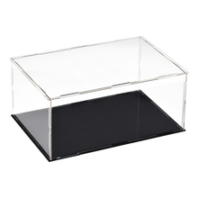 Uxcell Acrylic Clear Display Case Box Dustproof Protection Showcase Cube Collectibles Show Box 25x15x10cm