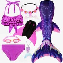 ילדים Swimmable בת ים זנב לשחייה לילדים שחייה בת ים זנבות עם מונופין סנפיר בנות ילדים בת ים קוספליי תלבושות