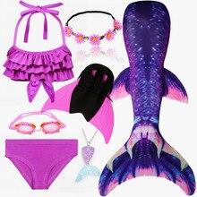 子供swimmable人魚の尾水泳子供水泳人魚の尾とmonofinフィン女の子子供人魚コスプレ衣装