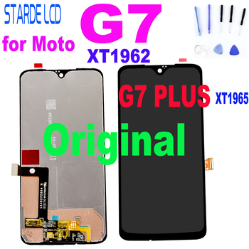 Original for Moto G7 XT1962 LCD Screen Display Touch Digitizer Screen Glass Replacement For Motorola G7 Plus Display g 7 LCD for motorola moto g5 lcd display touch screen xt1672 xt1676 lcd screen glass digitizer complete assembly