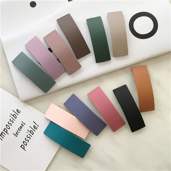 Classic Candy Color Kawaii Square Hair Pins Women Elegant Hot Selling Hair Clips Simple Exquisite Hair Accessories new arrival hot words hairclips melanin jealous blessed pitiless hair pins great quality hair accessories wholesale