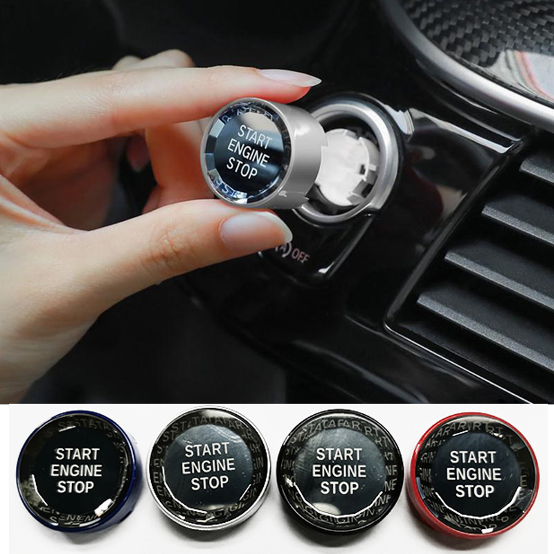 Crystal Car Engine Start Stop Switch Button Stickers For BMW X1 E84 E81 E87 X5 E70 X6 E71 E90 E60 E91 E92 E93 Z4 E89 Accessories