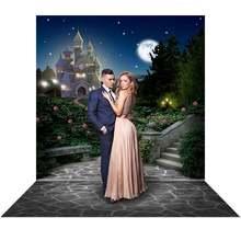 Sihirli kale arka plan fotoğrafçılık için dolunay parti zemin prenses parti fotoğraf Backdrop fotoğraf stüdyosu için