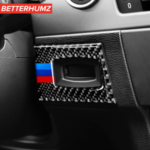For BMW e90 e92 e93 3 Series Interior Moulding M performance Carbon Fiber Key Hole Ignition Switch Frame Car Stickers and decals