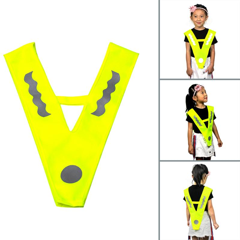 V-shaped Children Reflective Vest Night Outdoor Sports Running Cycling Safety Clothing Reflective Strap High Visibility