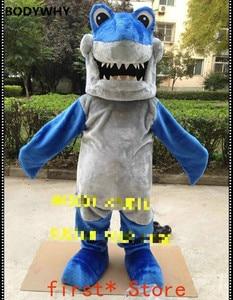 Halloween Shark Mascot Costume Blue Fish Anime Cosplay Mascotte Dress Adult Hot Interesting Funny Cartoon Character Clothing New