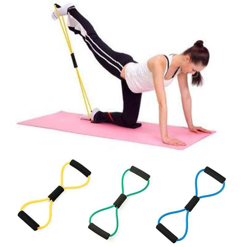 1pcs 8-shaped Puller Yoga Resistance Bands Sports Exercise Elastic Puller 8-shaped Chest Expander Puller Fitness Yoga Equipment