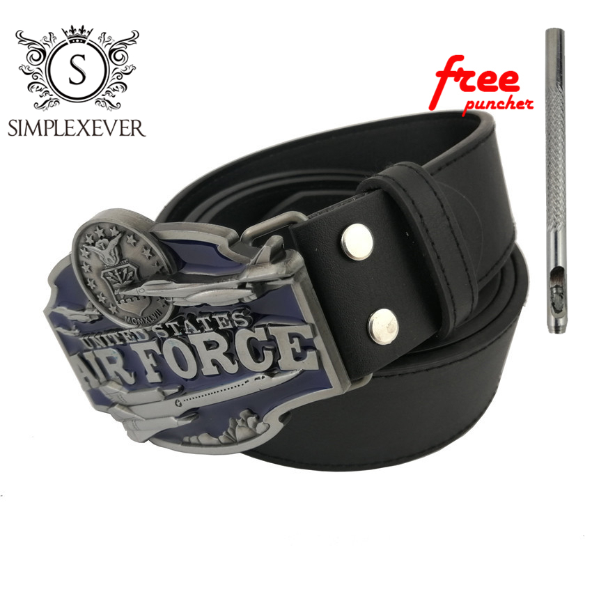 Women Mens Clothing Cowboy Belt Buckles Accessories Air Force Belt Buckle Head Meta Belt Buckle With PU Belt