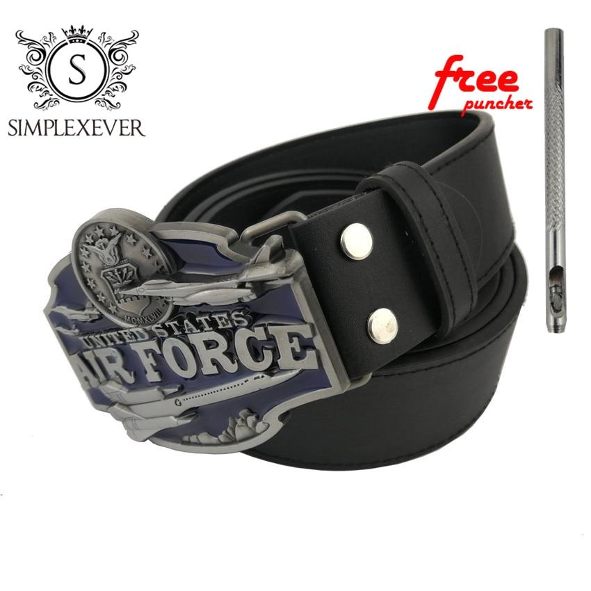 Women Mens Clothing Cowboy Belt Buckles Accessories Air Force Belt Buckle Head Meta Belt Buckle With PU Belt