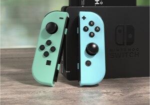 Оригинальный левый и правый джойсон для консоли Nintendo, синий джойстик, красный контроллер, аксессуары, секундная стрелка