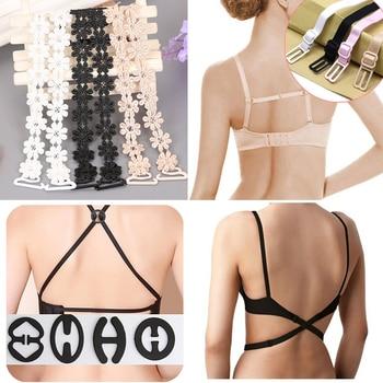 цена на Adjustable Women Strap for Bra Shoulder Accessories Transparent Invisible Bra Buckle Underwear Accessories Non-Slip Bra Straps