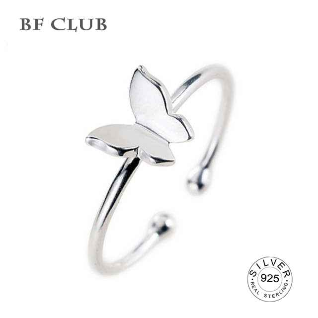 silver 925 open woman ring siliver butterfly shape finger Jewlery Ring Wholesale Party Gifts fine jewelry wholesale
