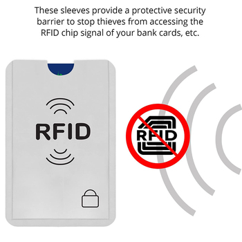 10 unids/lote Anti robo el banco de Protector de la tarjeta de crédito NFC RFID bloqueo cartera mujer tarjeta titular cartera cubierta de papel de aluminio de caja de tarjeta de negocio