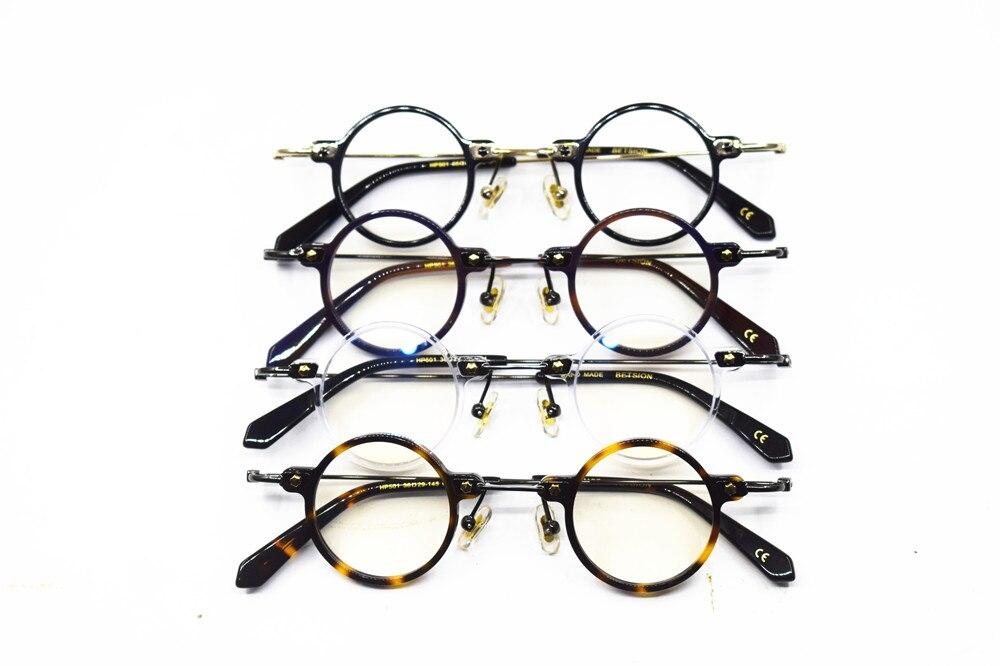 Винтажные маленькие круглые очки для чтения ручной работы из