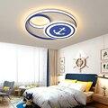 Креативная современная светодиодная Люстра для детей Детская комната люстра для спальни синий цвет Современные Люстры потолочное украшен...