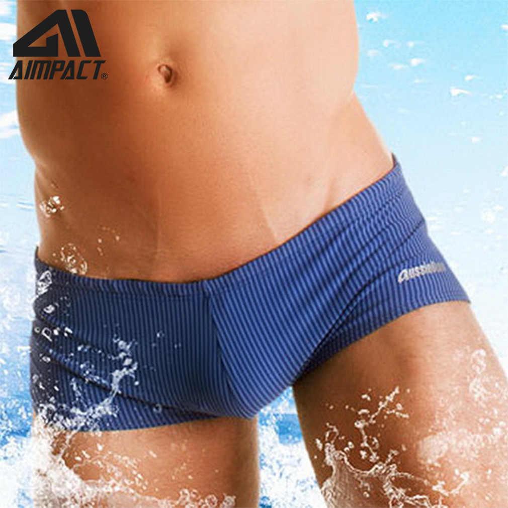 Mens Swim Trunks Square Leg Shorts Beach Sports Swimwear Bathing by AIMPACT