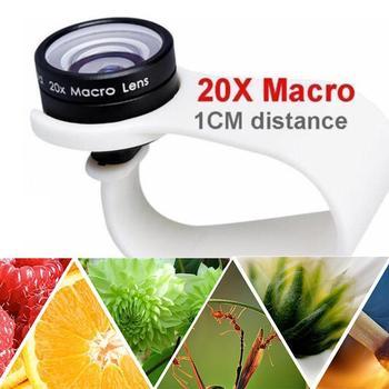 Telefon komórkowy makro obiektyw 20X Super telefon makro obiektywy 10 tylko dla Huawei iPhone 7 użyj xiaomi odległość 1cm 8 Samsung 6 L3D5