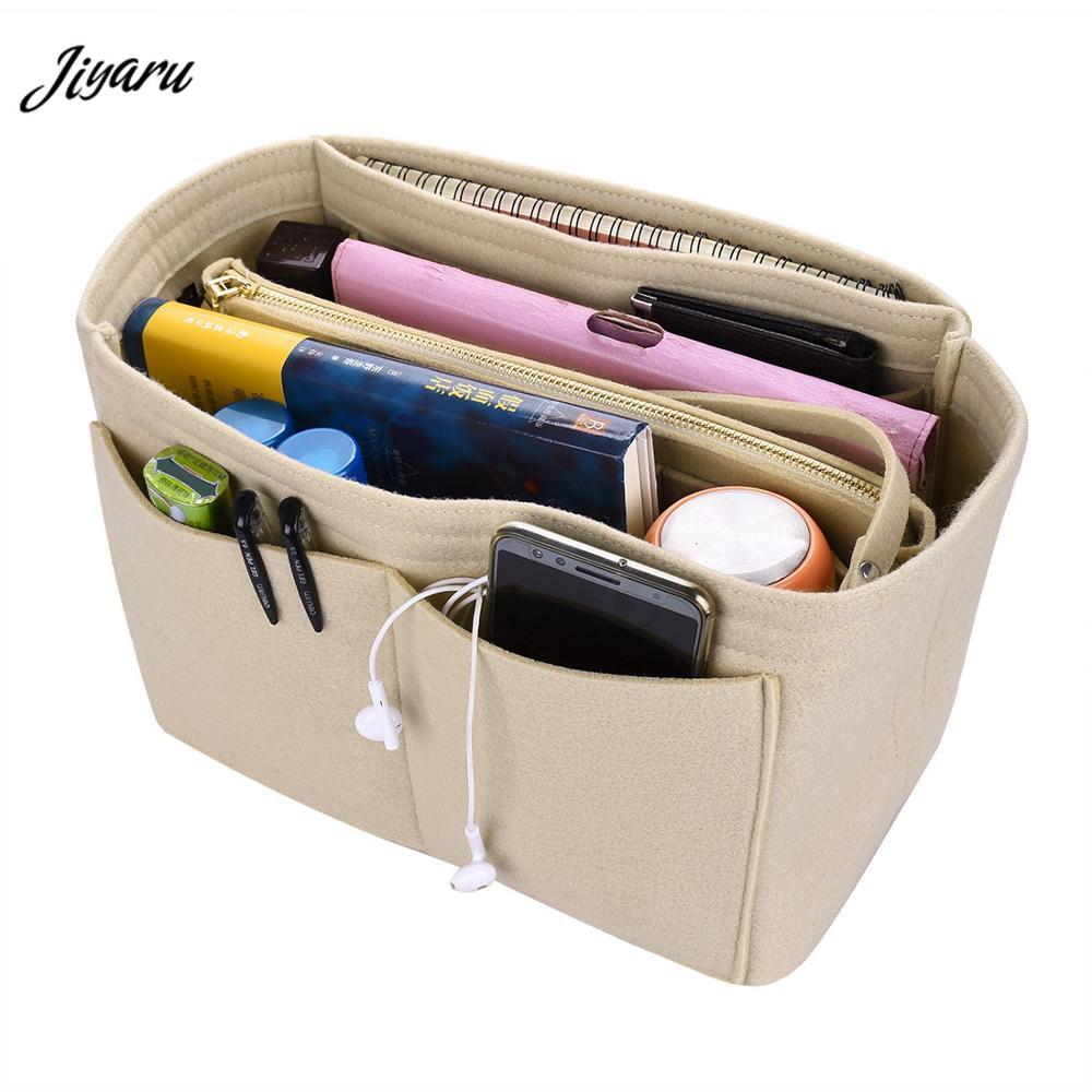 Insert-Bag Handbag Cosmetic-Bag-Organizer Inner-Purse Travel Felt Neverfull Portable