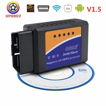 For iOS/Android ELM327 V1.5 WIFI OBD2 Scanner elm 327 WIFI 1.5 OBDII OBD 2 Car Diagnostic Tool WI-FI 1.5 Auto Code Reader image